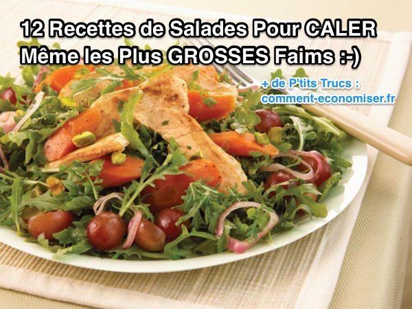 Pour ne pas prendre de kilos en trop, beaucoup de personnes choisissent de manger des salades.  Le problème, c'est que les salades sont rarement assez nourrissantes. Heureusement, il existe 12 recettes de salades avec un très bon indice de satiété, pour caler même les plus gourmands.  Découvrez l'astuce ici : http://www.comment-economiser.fr/12-recettes-de-salades-pour-caler-les-grosses-faim.html?utm_content=bufferb8966&utm_medium=social&utm_source=pinterest.com&utm_campaign=buffer