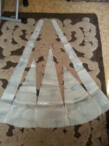 Юбки клиньями годе, юбки со спиральными клиньями.