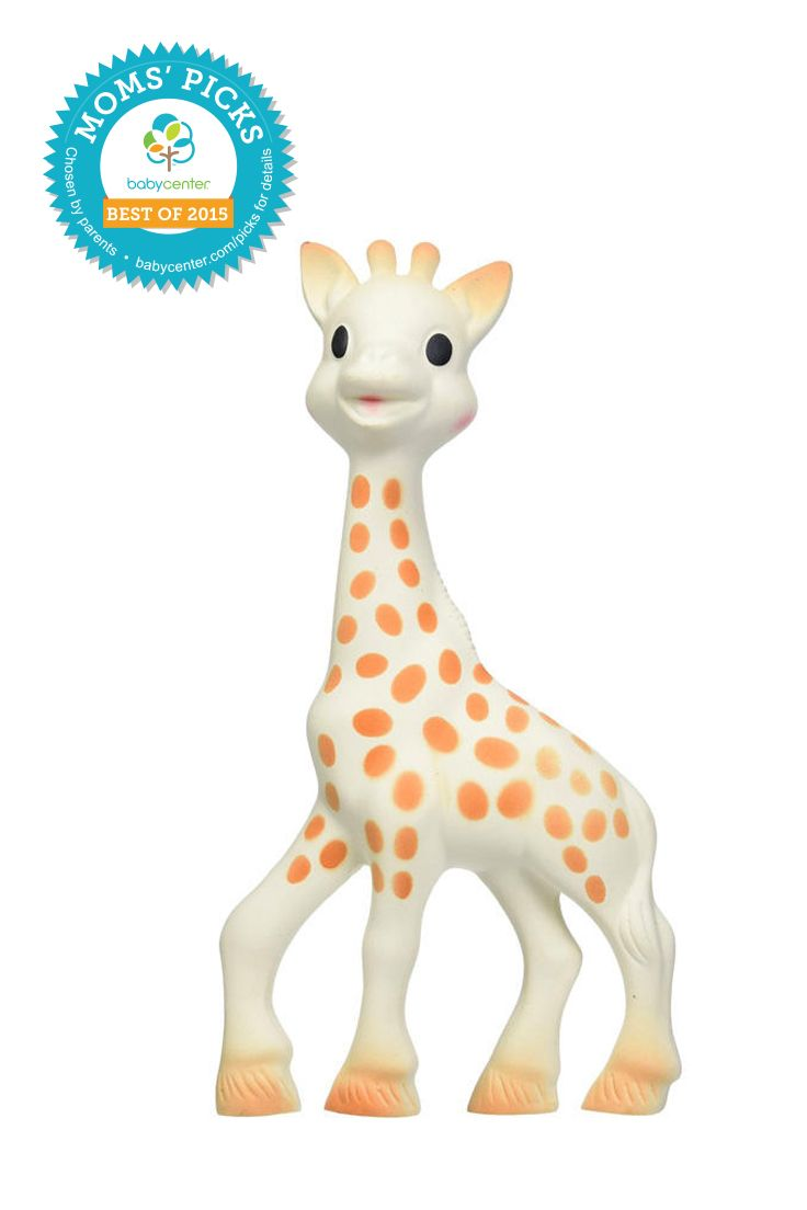 Vulli Sophie Giraffe Teether  *BabyCenter Moms' Picks are based on a nationwide survey and online voting on BabyCenter.com that allow parents to voice their opinions about and share their experience with the key products and gear of parenting. BabyCenter does not endorse any specific product.
