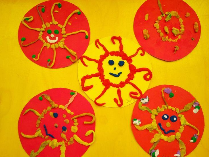 Солнышко. Лепка по образцу. Дети 2,5-4 года.