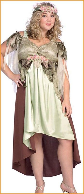 Adult Costumes Mother Nature Plus Size Halloween Costume $32.30 costume includes: long gold and burgundy dress with flower trim and matching floral headpiece. women's plus size (16-20). Plus Size Halloween Costumes.