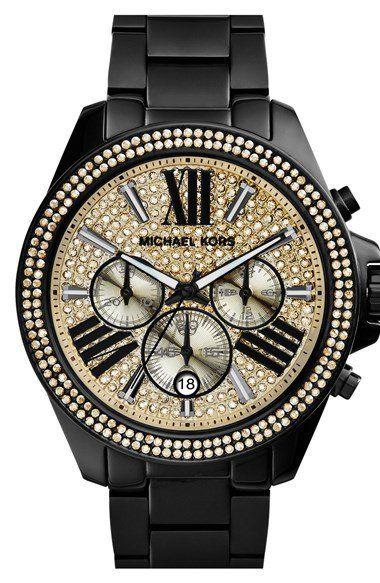 Michael Kors 'Wren' Pavé Dial Chronograph Bracelet Watch, 42mm   Nordstrom