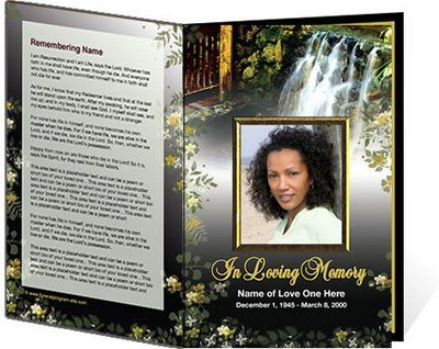 Best Funeral Program Templates Images On   Free