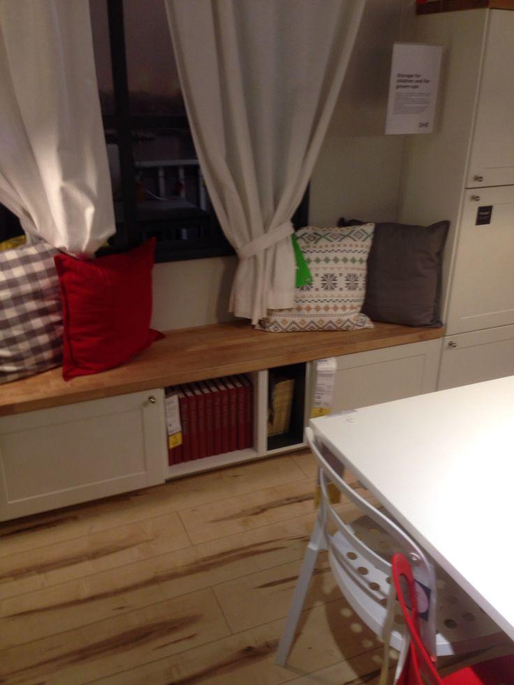 Ikea metod storage/bench | Küchen ideen, Wohnen, Küche