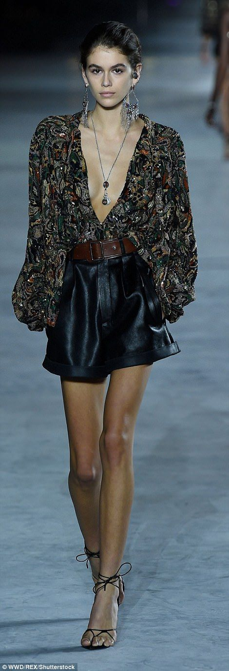 PFW: Kaia Gerber continues fashion world takeover at YSL | Daily Mail Online