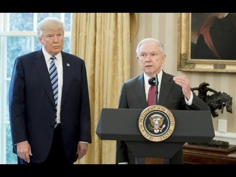Donald Trump Attorney General Jeff Sessions under fire over Russia meeti...