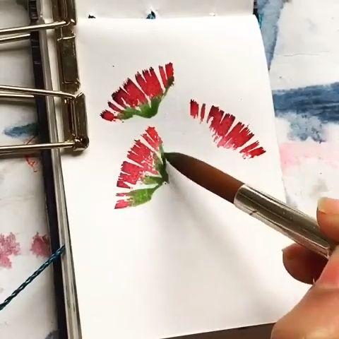 DIY Floral Painting#diy #floral #painting
