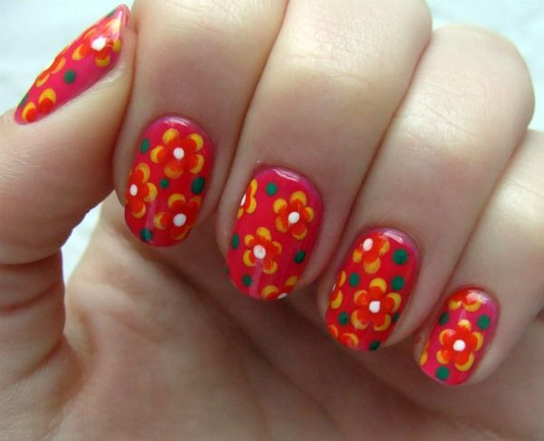 Best 25 mexican nails ideas on pinterest skull nails art of 15 beautiful floral nail art for the upcoming spring prinsesfo Gallery