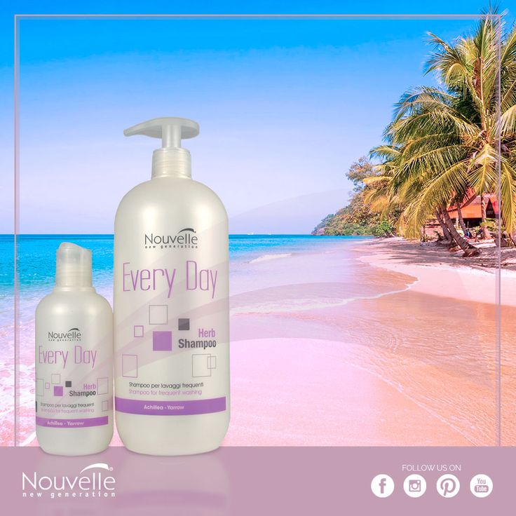 Sea, sun and frequent shampoo: on holiday the hair may get damaged… with Herb Shampoo, the shampoo for frequent washes of Nouvelle Every Day line, the hair regains its natural beauty. / Sole, mare e lavaggi frequenti: in vacanza i capelli possono rovinarsi… con Herb Shampoo, lo shampoo per lavaggi frequenti di Every Day Nouvelle, i  capelli ritrovano la loro naturale bellezza. #hsacosmetics #silkycolor #nouvellecolor #hair #hairstyle #instahair #hairstyles #haircolour #haircolor #haircut