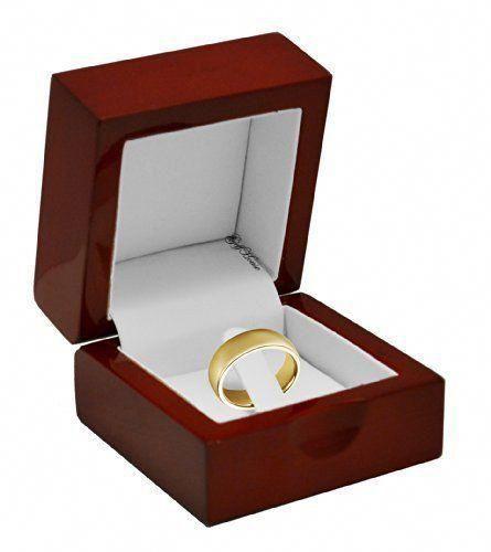 Beautiful Cherry Red Wooden Engagement Ring Holder Box Woodenengagementrings