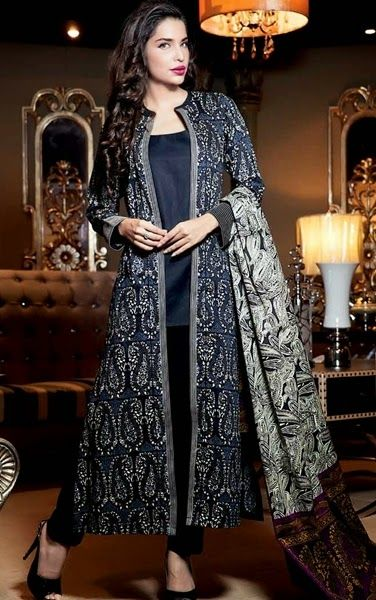 Front Open Double Shirt Dresses Designs 2016-2017 Collection