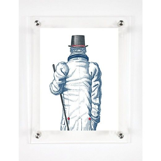 "Mitchell Black The Gentleman Decorative Framed Wall Canvas Midnight (12""x15"") : Target"