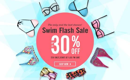 Romwe Swim Flash Sale you have never seen. Start at 1:00 PM (GMT) 1st August Only 72h. All up to 30% off http://www.romwe.com/flashsale/activeleft?active_id=661?beautyandthemist Free shipping Worldwide, shipped in 24 hours