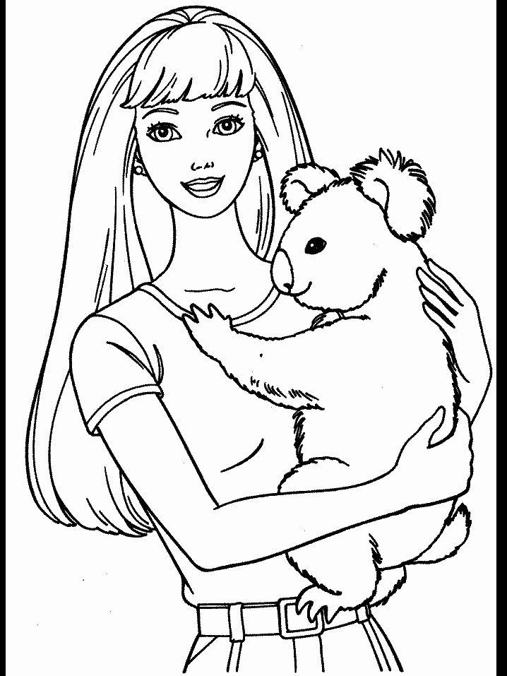 Koala Bear Coloring Page Beautiful Kids N Fun Puppy Coloring Pages Barbie Coloring Pages Bear Coloring Pages
