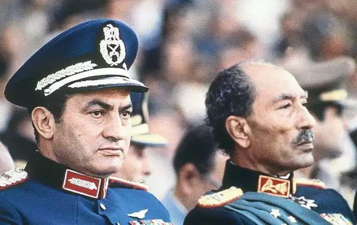 Last day of Enver Sedat/6.10.1981/with Hüsnü Mubarek