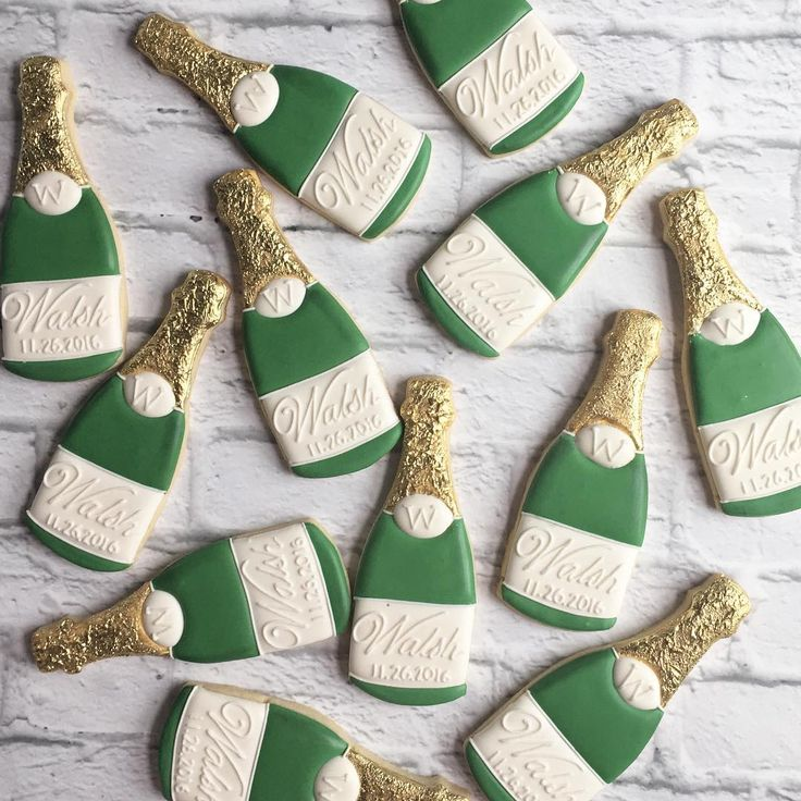 Cheers!  champagne bottle cookies