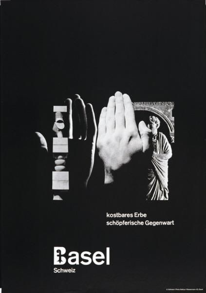 Basel Schweiz - kostbares Erbe - schöpferische Gegenwart-Plakat