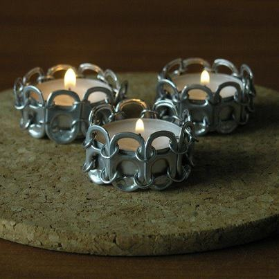 Tabsolute: 185 Pop tab candle holder second try                                                                                                                                                     More