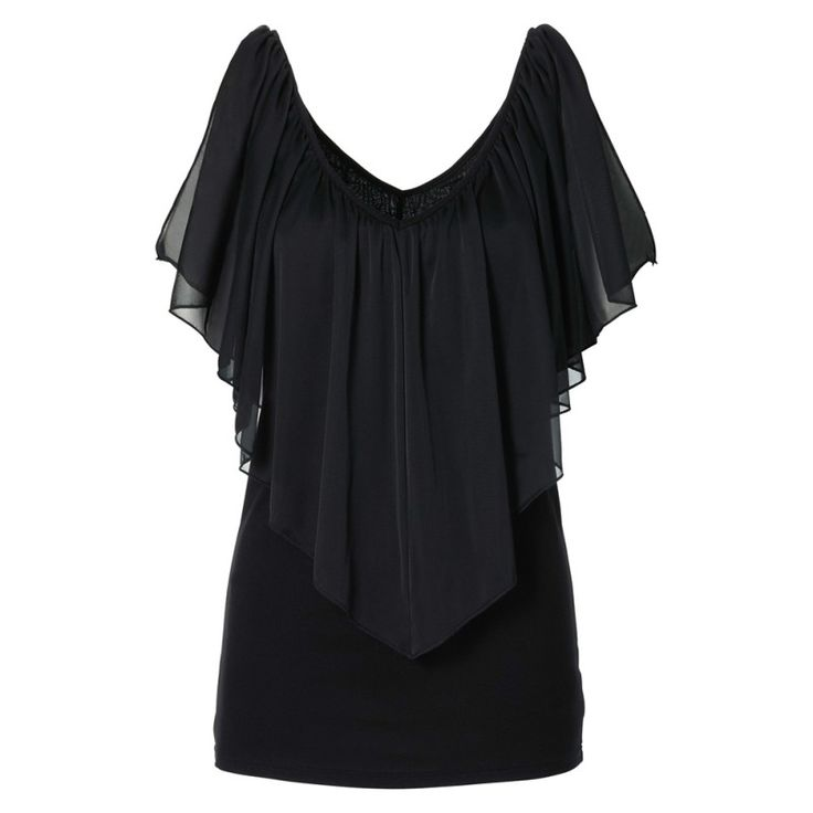 Chiffon Ladied Summer Blouses Women Ladies Loose Casual Butterfly Sleeves Shirts Wpmens Tops S-XL Hot!