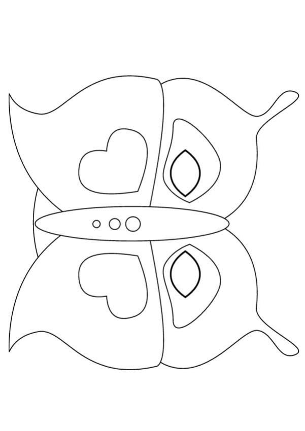 Butterfly mask - ANIMAL MASKS for kids to print and cut out