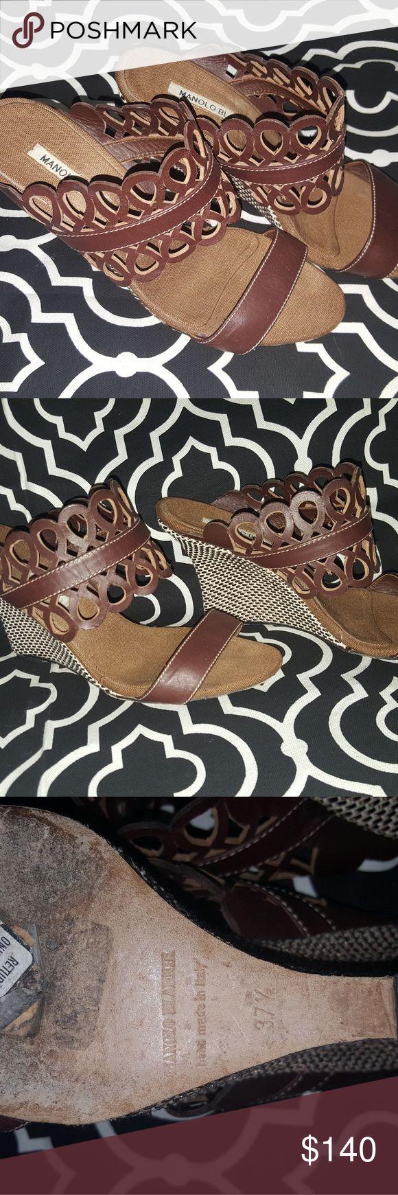 Manolo Blahnik Gorgeous Manolo Blahnik wedges Manolo Blahnik Shoes Wedges