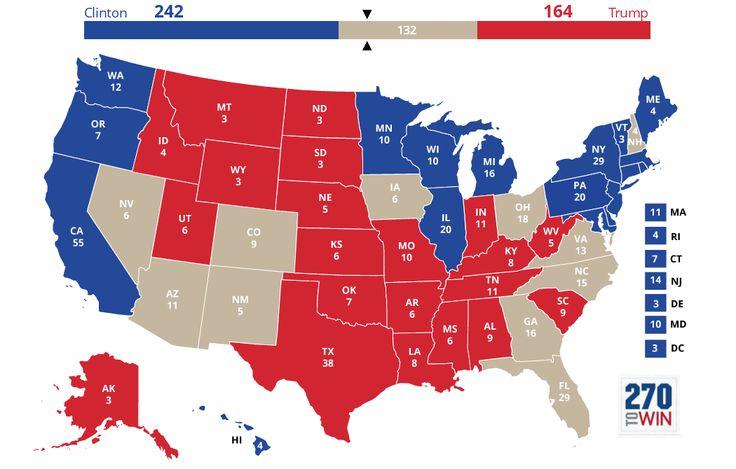 Rappel utile au moment où les élections françaises et américaines se croisent, à seulement quelques mois d'intervalle: aux Etats-Unis, contrairement à la France, peu importe qui de Trump ou de Clinton remportera le plus de voix. Les sondages nationaux relayés par les médias sont un bon indicateur de tendance, mais ils ne sont aucunement utiles pour prédire la marge de victoire du futur président des Etats-Unis.