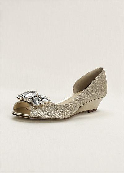 Sparkle, jewels and a not-to-high wedge - what's not to love about these shoes?