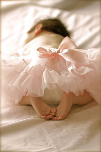 I love how it shows her little feet. This will be cute with the tutu mom got