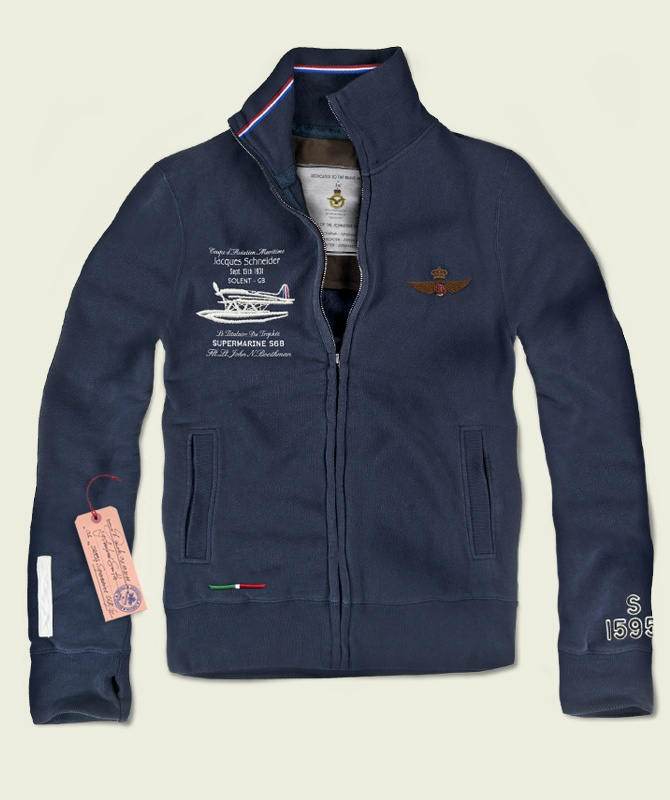 SA004 The Flight  100% Made in Italy  Certified Original Italian Product  100% Cotton  Fleece Jersey - 360 gr. sq./mt.  Vintage Aviation Department  £110