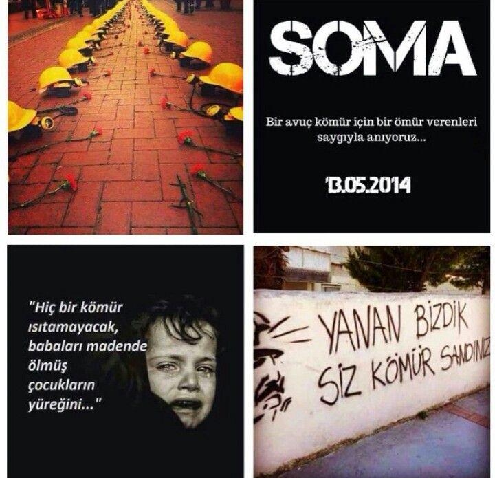 Vicdanın en kara tarihi 13 mayıs 2014 Karanlıklar içinde yaşadınız, nurlar içinde yatın...#SomayıUnutma