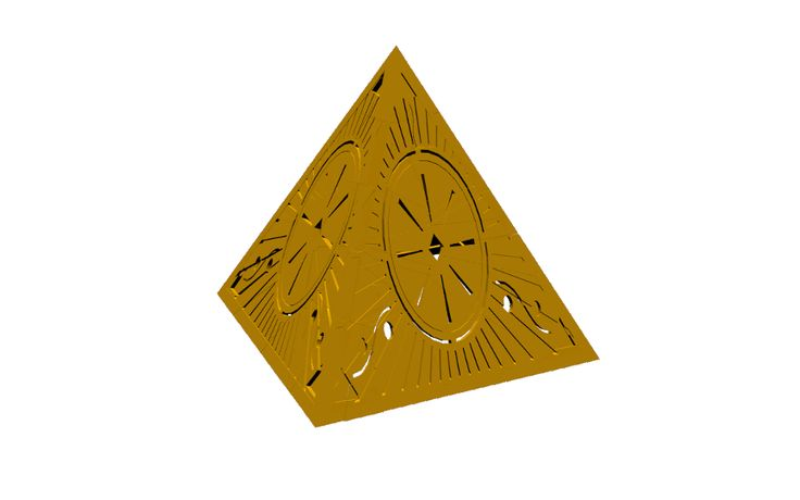 #Gold #pyramid #animation #art #graphic #design #3d #blender #aztec