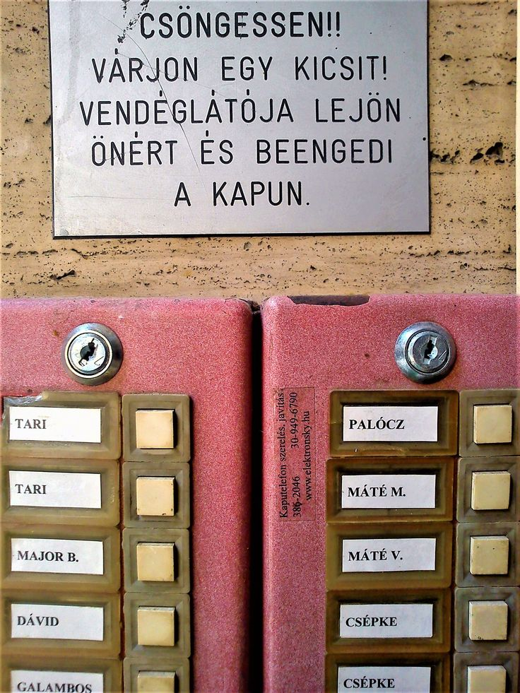 ring the bell_Kuci Budapest