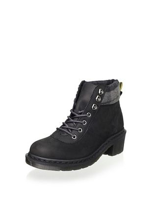 82% OFF Dr. Martens Women's Frieda Boot (Black/Grey Wild Horse Logger)