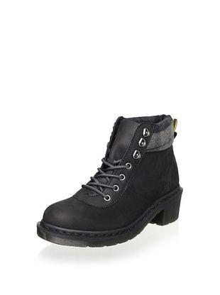 82% OFF Dr. Martens Women's Frieda Boot (Black/Grey Wild Horse Logger)
