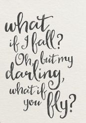 What If You Fly | Inspirational Quotes | Cute Quotes