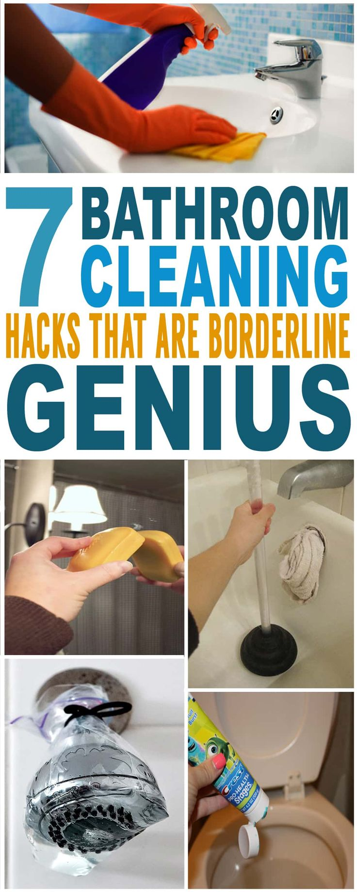 These are the BEST bathroom cleaning hacks!! Glad to have found these amazing bathroom cleaning tips and tricks. Pinning for sure.