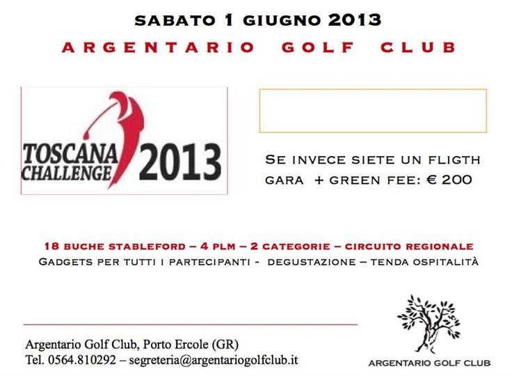 4 green fee + iscrizione gara del 1 giugno 2013 all'Argentario Golf Club al prezzo di 195,00 €