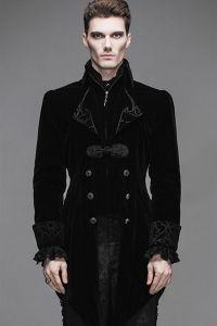 Viktorianischer Frack aus Samt - schwarz