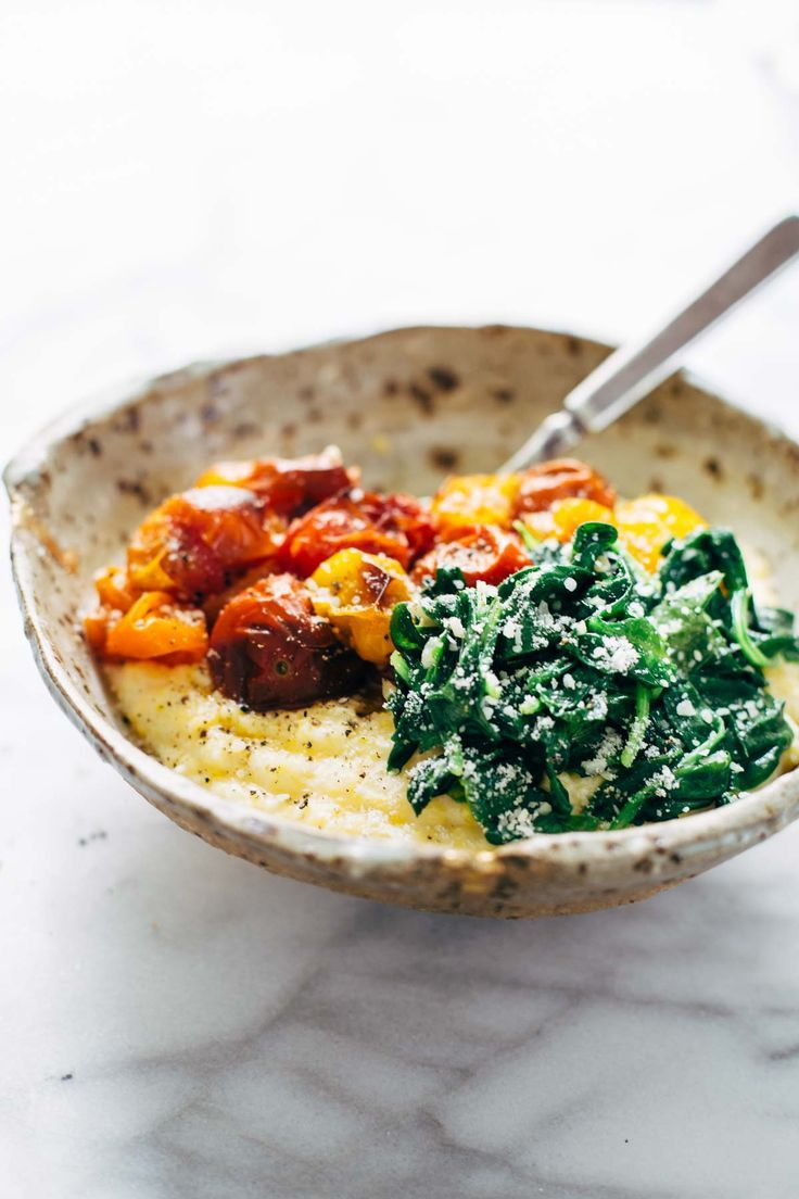 Roasted Tomatoes With Goat Cheese Polenta ™� An Easy Vegetarian Recipe  Adaptable To Whatever Veggies You