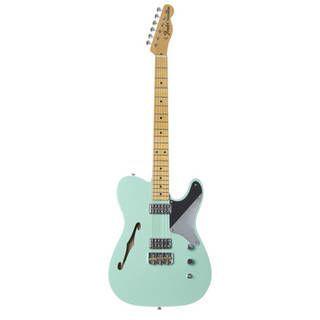 Fender F-hole Cabronita Thinline MN Sea Green Masterbuilt