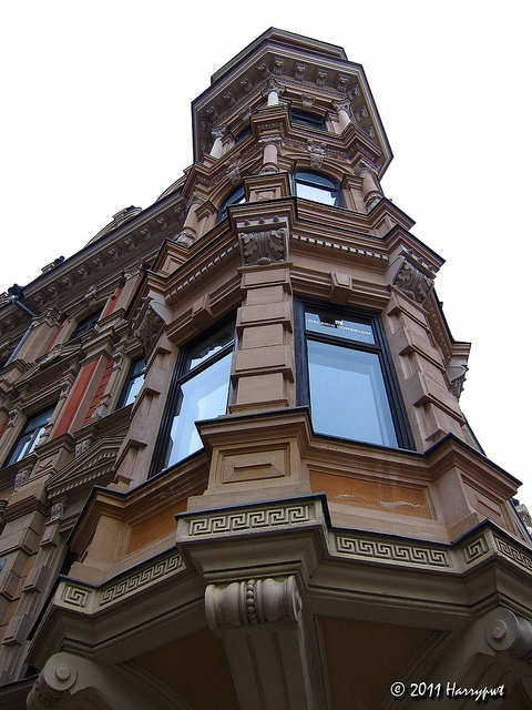 one beautiful building in esplanadi, central helsinki, across the historical kämp hotel.     fantastic