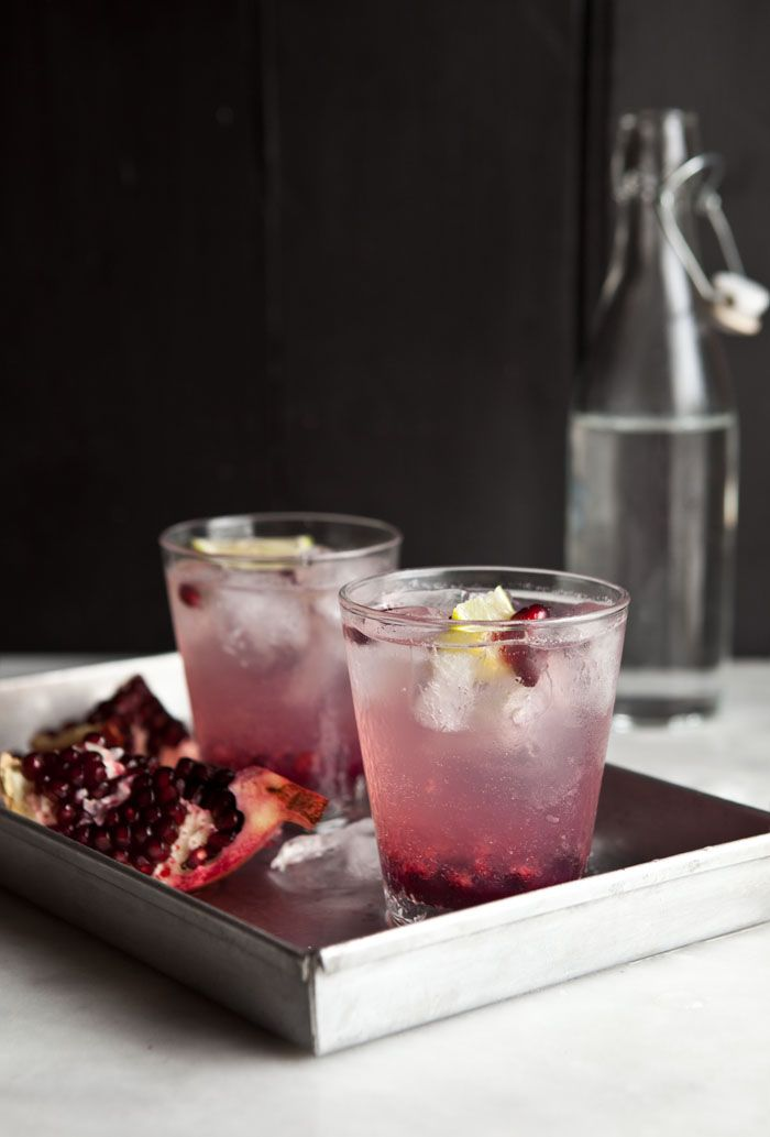 pomegranate and ginger spritzer non-alcoholic