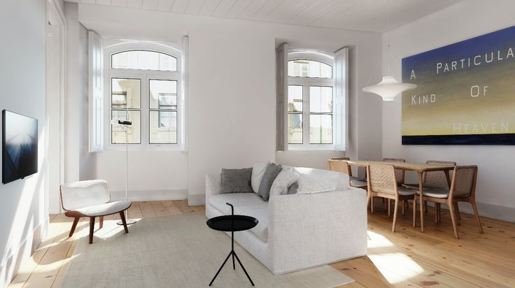 Fragmentos de Arquitectura | Rua do Carmo | Arquitetura | Architecture | Atelier | Design | Indoor | Details | White | Minimal | Living Room | Sofas | Pillows | Minimalism | Dinning Table | Tv | Side Table | Windows