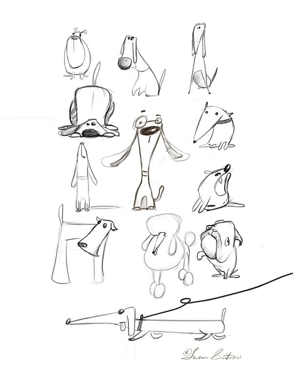 Animal sketches on Behance
