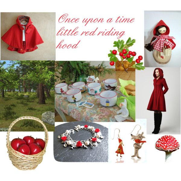 Little red riding hood story by pulcinellaceramics on Polyvore