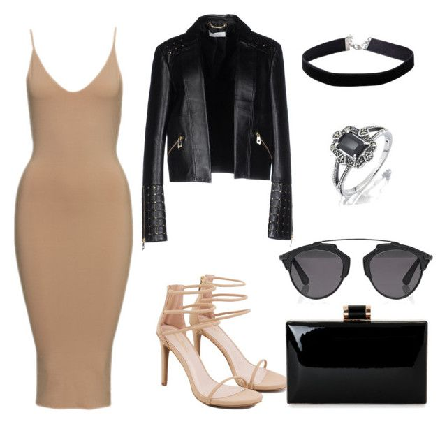 """""""sexy out"""" by alexandra-almanza on Polyvore featuring Versace, Akira, Miss Selfridge and Christian Dior"""