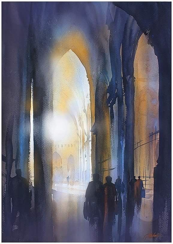 Pin By Karim Oyarzabal On Aquarelle Watercolor Architecture