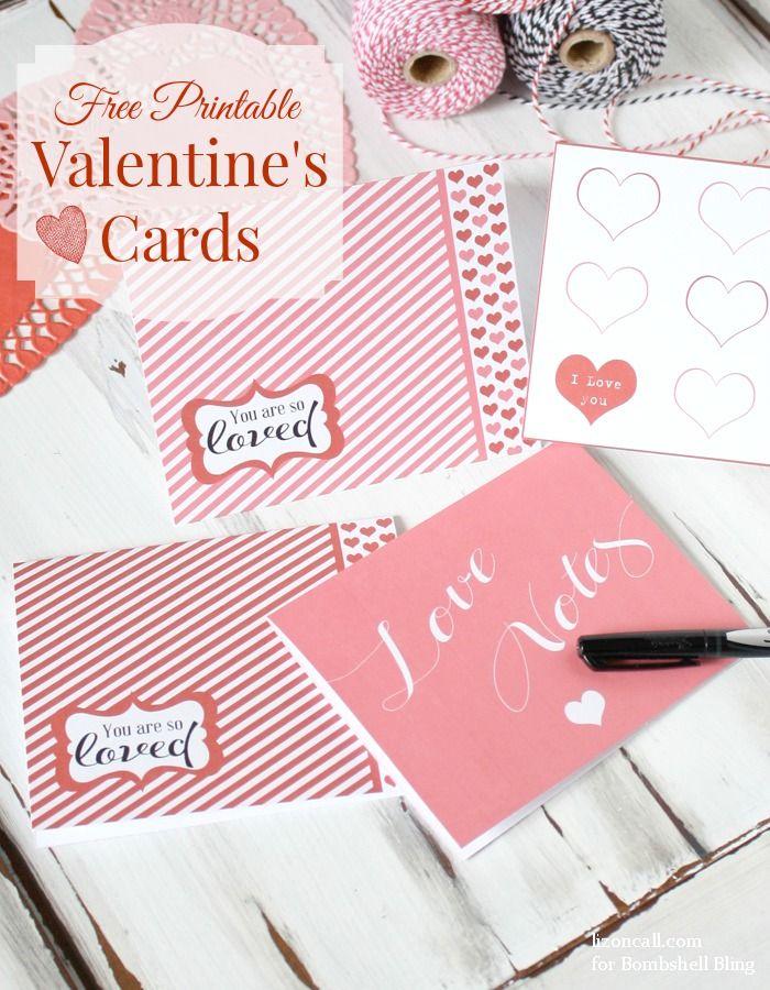 Free Printable Valentine's Cards   Bombshell Bling                                                                                                                                                                                 More