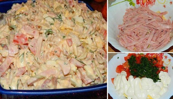 Velikonoční salát s dietním salámem