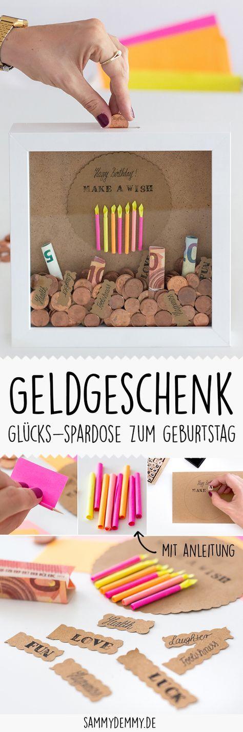 Idéia de presente DIY: presente de dinheiro para casamento e aniversário   – Basteln Geburtstag